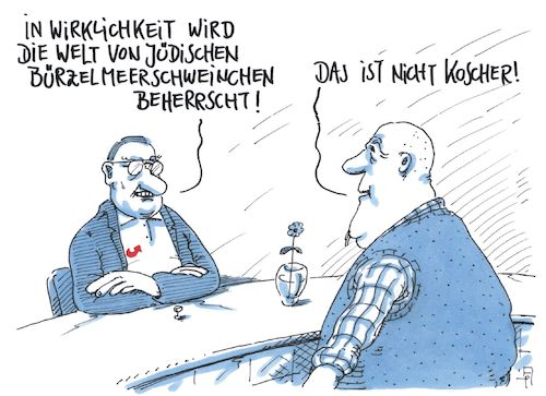 Cartoon: nicht koscher (medium) by Andreas Prüstel tagged verschwörungstheorien,rechtspopulisten,rechtsradikale,afd,fremdenfeindlichkeit,antisemitismus,koscher,cartoon,karikatur,andreas,pruestel,verschwörungstheorien,rechtspopulisten,rechtsradikale,afd,fremdenfeindlichkeit,antisemitismus,koscher,cartoon,karikatur,andreas,pruestel