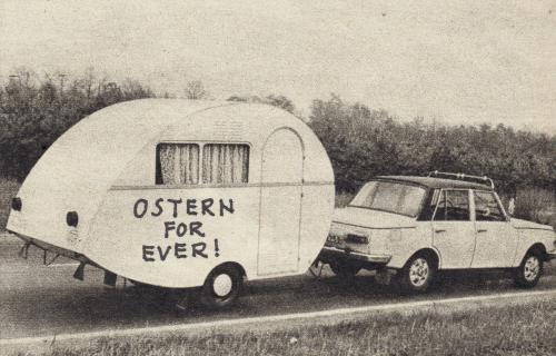 Cartoon: o.t. (medium) by Andreas Prüstel tagged ostern,ddr,camping