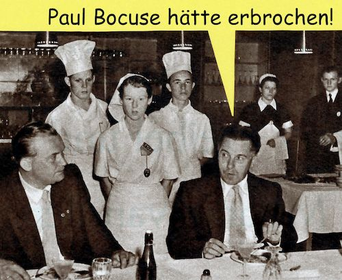 Cartoon: paul bocuse (medium) by Andreas Prüstel tagged paul,bocuse,meisterkoch,kochkünstler,cartoon,collage,andreas,pruestel,paul,bocuse,meisterkoch,kochkünstler,cartoon,collage,andreas,pruestel
