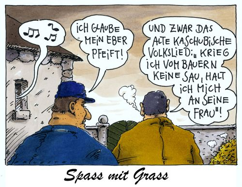 Cartoon: spass mit grass (medium) by Andreas Prüstel tagged günter,grass,literat,literaturnobelpreisträger,kaschuben,volkslied,bauer,eber,cartoon,karikatur,andreas,pruestel,günter,grass,literat,literaturnobelpreisträger,kaschuben,volkslied,bauer,eber,cartoon,karikatur,andreas,pruestel