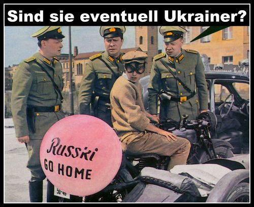 Cartoon: ukrainer (medium) by Andreas Prüstel tagged russland,ukraine,ukrainer,horst,buchholz,film,billy,wilder,berlin,russki,krieg,nachkrieg,cartoon,collage,andreas,pruestel