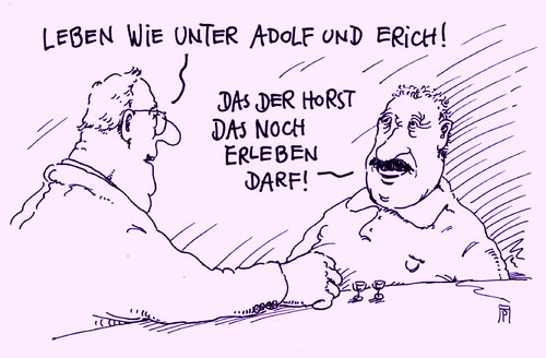 Cartoon: unrechtsstaat (medium) by Andreas Prüstel tagged horst,seehofer,csu,flüchtlingspolitik,unrechtsstaat,ddr,faschismus,diktaturen,erich,honecker,adolf,hitler,cartoon,karikatur,andreas,pruestel,horst,seehofer,csu,flüchtlingspolitik,unrechtsstaat,ddr,faschismus,diktaturen,erich,honecker,adolf,hitler,cartoon,karikatur,andreas,pruestel