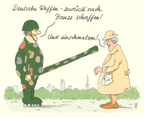 Cartoon: waffenexporte (medium) by Andreas Prüstel tagged deutschland,rüstungsindustrie,waffenexporte,einschmelzung,cartoon,karikatur,abdreas,pruestel,deutschland,rüstungsindustrie,waffenexporte,einschmelzung,cartoon,karikatur,abdreas,pruestel
