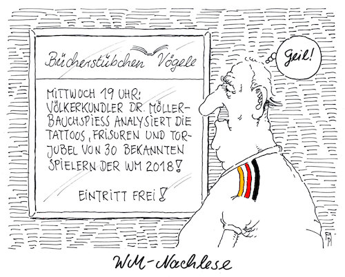 Cartoon: wm-nachlese (medium) by Andreas Prüstel tagged fußballweltmeisterschaft,russland,nachlese,spieler,tattoos,frisuren,torjubel,cartoon,karikatur,andreas,pruestel,fußballweltmeisterschaft,russland,nachlese,spieler,tattoos,frisuren,torjubel,cartoon,karikatur,andreas,pruestel