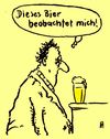 Cartoon: observer (small) by Andreas Prüstel tagged kneipe,bier,alkohol,suff,einbildung,beobachtung,beobachter,cartoon,karikatur,andreas,pruestel