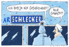 Cartoon: schlecker (small) by Andreas Prüstel tagged pleite,insolvenz,schlecker,discounter,bundespräsident,wulff,wulffen