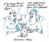 Cartoon: seniorendate (small) by Andreas Prüstel tagged date,kaffee,anspielung,potenz,senioren
