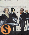 Cartoon: super-group (small) by Andreas Prüstel tagged beatles mozart wagner beethoven bach