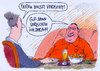 Cartoon: verzicht (small) by Andreas Prüstel tagged fasten,fastenzeit,verzicht,christen,cartoon,karikatur,andreas,pruestel