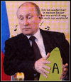 Cartoon: wladimir müller-putin (small) by Andreas Prüstel tagged putin,marius,müller,westernhagen,cartoon,collage,andreas,pruestel