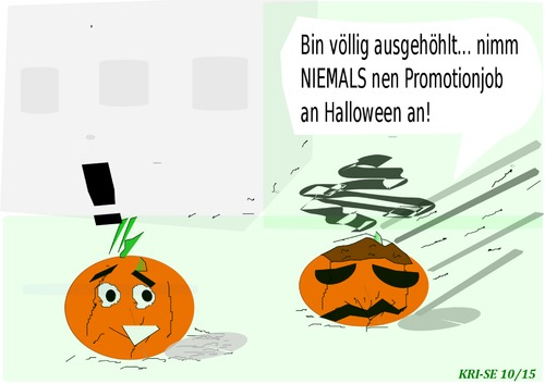 Cartoon: Halloween (medium) by KRI-SE tagged ausgebrannt,promotion,job,kuerbis,kürbis,halloween