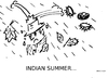Cartoon: Indian Summer (small) by KRI-SE tagged oktober,herbst,indiansummer,jahreszeiten,wetter,mistwetter