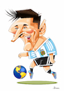 Cartoon: Messi (small) by Ulisses-araujo tagged messi russsia 2018