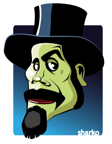 Cartoon: Serj Tankian (medium) by sharko2 tagged serj,tankian