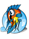 Cartoon: Apistogramma (small) by sharko2 tagged fish
