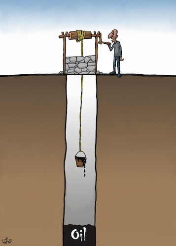 Cartoon: clean water crisis cartoon (medium) by handren khoshnaw tagged handren,khoshnaw,cartoon,water,oil,middle,east