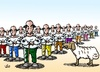 Cartoon: One sheep and so many shepherd (small) by handren khoshnaw tagged handren,khoshnaw