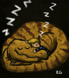 Cartoon: tyranosaurius dreams (small) by ernesto guerrero tagged tyranosaurus,dinosaur,children