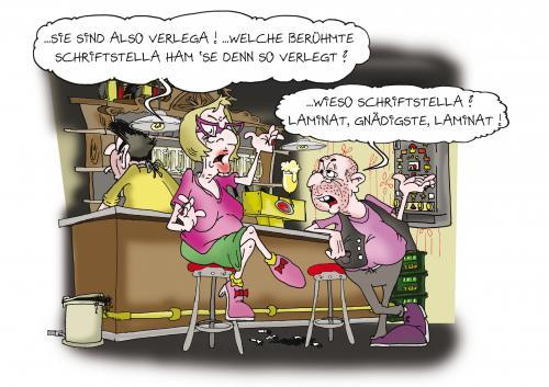 Laminat verlegen von sam liebe cartoon toonpool for Boden cartoon