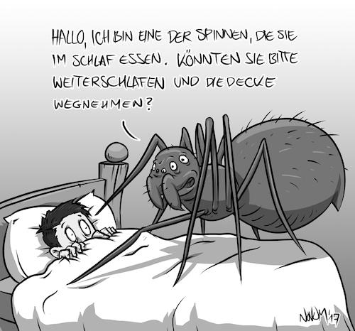 Spinne Im Schlaf Essen Von Inovumi Natur Cartoon Toonpool