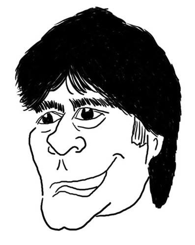 Cartoon: Jogi Löw Karikatur (medium) by noseart tagged jogi,löw,bundestrainer,nationalmannschaft