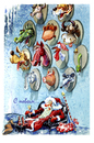 Cartoon: Santa Claus (small) by BIB tagged santa,claus