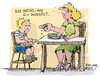 Cartoon: Drohung (small) by antonreiser tagged drohung,ich,weiß,wo,du,wohnst,mutter,kind,essen