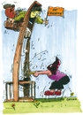 Cartoon: Innovation (small) by antonreiser tagged guillotine,haudenlukas,innovation