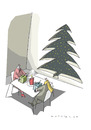 Cartoon: Ausblick (small) by Mattiello tagged weihnachten