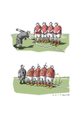 Cartoon: Strichregel (small) by Mattiello tagged fussball,wm,brasilien,neuerungen