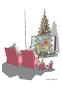 Cartoon: Weihnachten (small) by Mattiello tagged weihnachten,tannenbaum,tv,familie,heiligabend