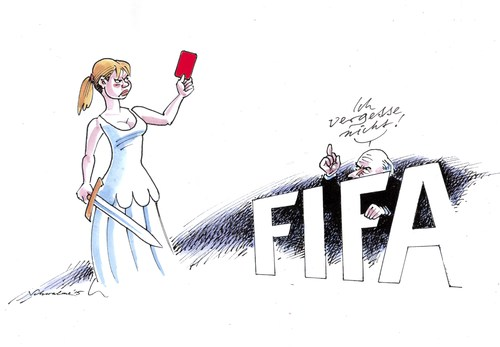 Cartoon: FIFA (medium) by Schwalme tagged fifa,blatter