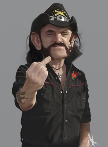 Cartoon: Lemmy Kilmister (medium) by Danny Kohn tagged motörhead