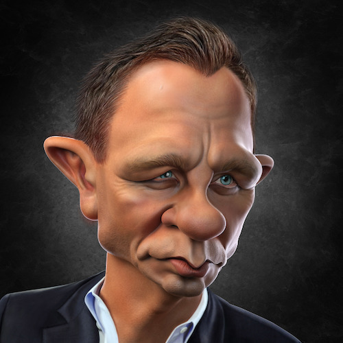 Cartoon: Daniel Craig (medium) by BehnamParan tagged jamesbond,actor