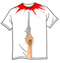Cartoon: a bloody tee shirt (small) by FredCoince tagged tee,shirt,humor