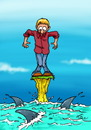 Cartoon: Help ! (small) by FredCoince tagged shark,help,humor