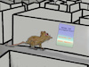 Cartoon: hilfe (small) by ab tagged arbeit,stress,labyrinth,test,ratte