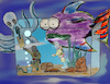 Cartoon: inside out (small) by ab tagged underwater,aquarium,sea,fish,octopuss,man,diving