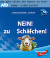 Cartoon: wahl bayern (small) by ab tagged wahl,plakat,bayern,partei,afd,tier,schaf