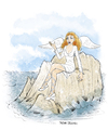 Cartoon: The Sirens (small) by Tufan Selcuk tagged siren,mythology