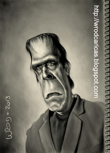 Cartoon: Herman Munster (medium) by WROD tagged herman,munster
