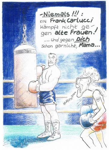 Cartoon: Frank Carlucci (medium) by nick lopez tagged boxer,boxing,mutter,mother,