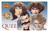 Cartoon: Humor con Queen (small) by Romero tagged musica humor queen caricatura carton personajes musicos arte dibujo color campeones fredie mercury
