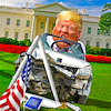 Cartoon: Reckless driver (small) by Bart van Leeuwen tagged general,morors,trump,gm,economy,jobs