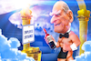 Cartoon: The Naked Waiter (small) by Bart van Leeuwen tagged prince,philip,naked,waiter,duke,edinburgh,death