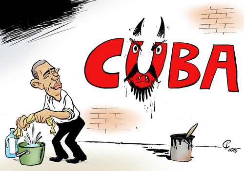 Cartoon: Annäherung (medium) by Paolo Calleri tagged usa,kuba,terrorismus,terrorliste,barack,obama,amerika,gipfel,amerikagipfel,unterstuetzerstaaten,beziehungen,annaeherung,karikatur,cartoon,paolo,calleri,usa,kuba,terrorismus,terrorliste,barack,obama,amerika,gipfel,amerikagipfel,unterstuetzerstaaten,beziehungen,annaeherung,karikatur,cartoon,paolo,calleri