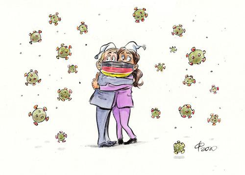Cartoon: Deutsche Einheit 2020 (medium) by Paolo Calleri tagged deutschland,tag,deutsche,einheit,oktober,30,jahre,covid,corona,infektionen,wirtschaft,lebensverhaeltnisse,gesellschaft,arbeit,soziales,finanzen,gesundheit,karikatur,cartoon,paolo,calleri,deutschland,tag,deutsche,einheit,oktober,30,jahre,covid,corona,infektionen,wirtschaft,lebensverhaeltnisse,gesellschaft,arbeit,soziales,finanzen,gesundheit,karikatur,cartoon,paolo,calleri