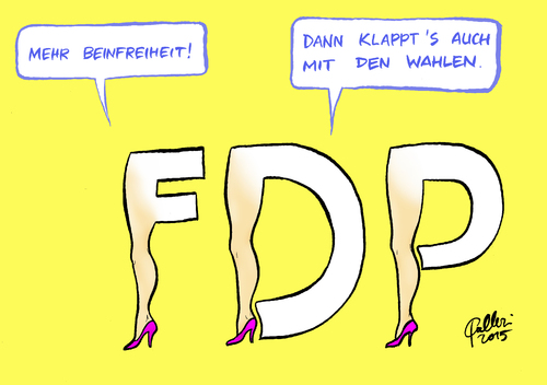 Cartoon: FDP-Comeback (medium) by Paolo Calleri tagged deutschland,hamburg,buergerschaftswahl,buergerschaft,landtag,fdp,liberale,spitzenkandidatin,katja,suding,kameraschwenk,ard,parteitag,prozent,huerde,sexismus,debatte,inhalte,karikatur,cartoon,paolo,calleri,deutschland,hamburg,buergerschaftswahl,buergerschaft,landtag,fdp,liberale,spitzenkandidatin,katja,suding,kameraschwenk,ard,parteitag,prozent,huerde,sexismus,debatte,inhalte,karikatur,cartoon,paolo,calleri