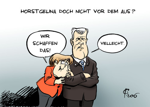 Cartoon: Horstgelina (medium) by Paolo Calleri tagged deutschland,union,cdu,csu,bundeskanzlerin,angela,merkel,bayern,horst,seehofer,ministerpraesident,fluechtlinge,fluechtlingskrise,fluechtlingsstreit,obergrenze,usa,hollywood,film,brad,pitt,angelina,jolie,scheidung,brangelina,karikatur,cartoon,paolo,calleri,deutschland,union,cdu,csu,bundeskanzlerin,angela,merkel,bayern,horst,seehofer,ministerpraesident,fluechtlinge,fluechtlingskrise,fluechtlingsstreit,obergrenze,usa,hollywood,film,brad,pitt,angelina,jolie,scheidung,brangelina,karikatur,cartoon,paolo,calleri