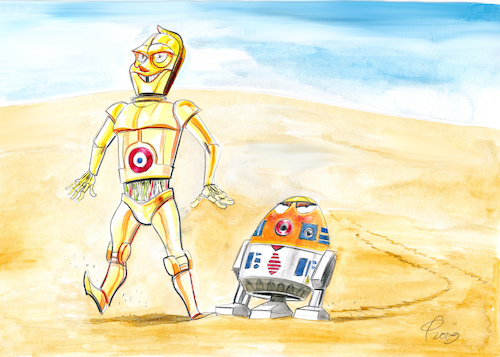 Cartoon: Star Wars... (medium) by Paolo Calleri tagged eu,frankreich,weltraum,all,welt,erde,militär,kommando,präsident,emmanuel,macron,usa,donald,trump,armee,space,command,film,star,wars,r2d2,c3po,karikatur,cartoon,paolo,calleri,eu,frankreich,weltraum,all,welt,erde,militär,kommando,präsident,emmanuel,macron,usa,donald,trump,armee,space,command,film,star,wars,r2d2,c3po,karikatur,cartoon,paolo,calleri